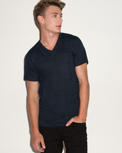 Bella Men's 3.4 oz. Short-Sleeve V-Neck Triblend