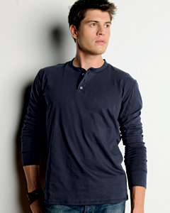 Canvas Men's 4.2 oz. Long-Sleeve Henley