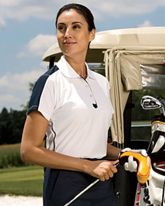 Chestnut Hill Ladies' Piped Technical Performance Polo