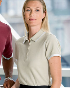 Chestnut Hill Ladies' Tipped Performance Plus Piqu Polo