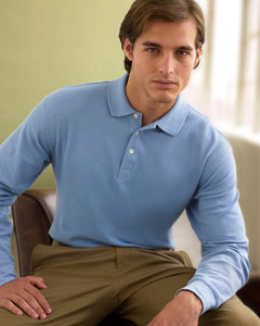 Chestnut Hill Long-Sleeve Performance Plus Piqu Polo