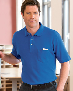 Chestnut Hill Men's Performance Plus Piqu Polo with Pocket