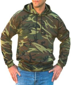 Code V Adult Camouflage Pullover Hooded Sweatshirt