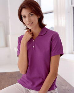 Devon & Jones Ladies' Pima Piqu Short-Sleeve Y-Collar Polo