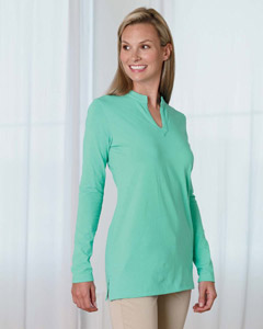 Devon & Jones Ladies' Stretch Jersey Long-Sleeve Tunic
