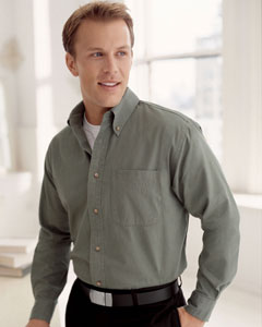 Devon & Jones Men's Long-Sleeve Titan Twill