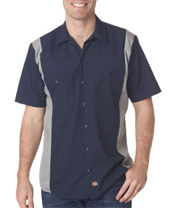 Dickies Adult Industrial Color Block Blended Shirt