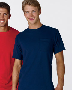 Fruit of the Loom 5.4 oz. Heavy Cotton Pocket T-Shirt