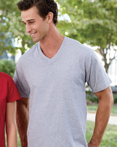 Fruit of the Loom Men's 5 oz., 100% Heavy Cotton HD V-Neck T-Shirt