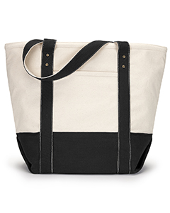 Gemline Seaside Zippered Cotton Tote
