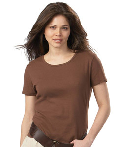 Hanes Ladies' 6.1 oz. Classic Fit 1x1 Rib T-Shirt
