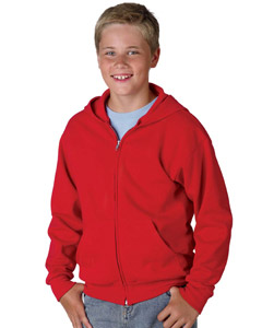 Hanes Youth 7.8 oz. ComfortBlend EcoSmartT 50/50 Full-Zip Hood