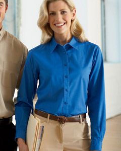 Harriton Ladies' 4.5 oz. Long-Sleeve Millennium Twill Shirt