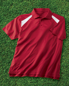 Harriton 4 oz. Polytech Colorblock Polo