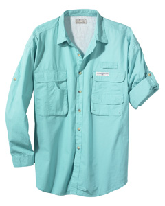 Hook & Tackle Men's Gulf Stream Long-Sleeve Fishing Shirt
