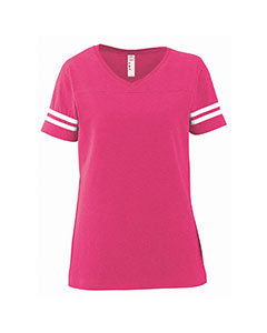 LAT Ladies' Fine Jersey Football Tee