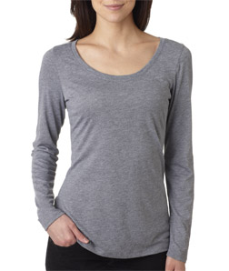 Next Level Tri-Blend Long-Sleeve Scoop Tee