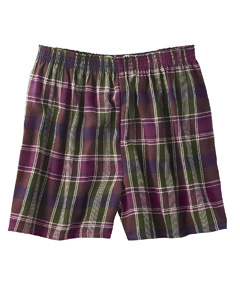Robinson Unisex Plaid Flannel Short