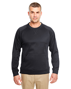 UltraClub Adult Cool & Dry Sport Crew Neck Fleece