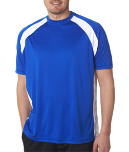 UltraClub Adult Cool & Dry Sport Two-Tone Performance Tee