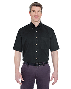 UltraClub Adult Cypress Twill Short-Sleeve Shirt with Pocket