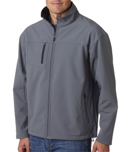 UltraClub Adult Soft Shell Jacket with Cadet Collar