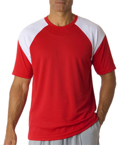 UltraClub Adult UltraClub Cool-N-Dry Sport Color Block Tee