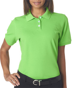 UltraClub Ladies' Classic Platinum Polo