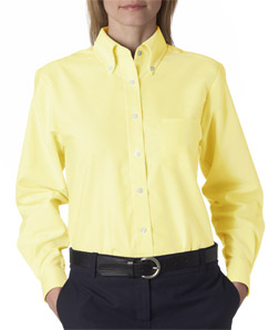 UltraClub Ladies' Classic Wrinkle-Free Long-Sleeve Oxford
