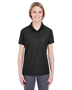UltraClub Ladies' Cool & Dry Box Jacquard Performance Polo
