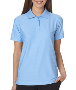 UltraClub Ladies' Cool & Dry Elite Tonal Stripe Performance Polo