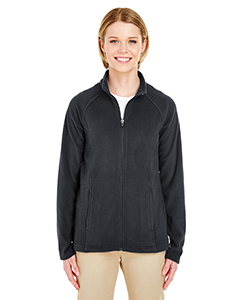UltraClub Ladies' Cool & Dry Full-Zip Micro-Fleece