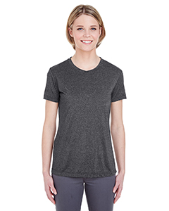 UltraClub Ladies' Cool & Dry Heather Performance Tee
