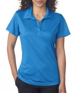 UltraClub Ladies' Cool & Dry Jacquard Stripe Polo