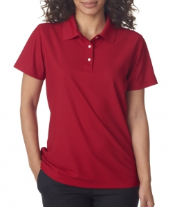 UltraClub Ladies' Cool & Dry Pebble-Knit Polo