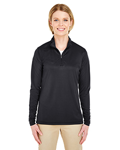 UltraClub Ladies' Cool & Dry Sport Performance Interlock 1/4-Zip Pullover