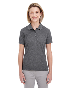 UltraClub Ladies' Heathered Pique Polo
