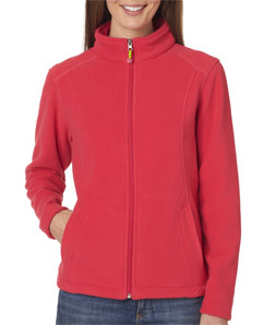 UltraClub Ladies' Micro Fleece Full-Zip Jacket
