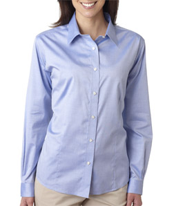 UltraClub Ladies' Non-Iron Pinpoint Shirt