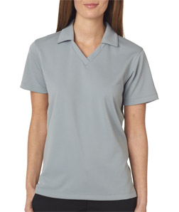 UltraClub Ladies' Platinum Performance Jacquard Polo with TempControl Technology