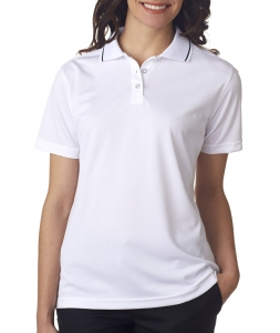 UltraClub Ladies' Polo with Tipped Collar