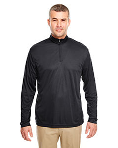 UltraClub Men's Cool & Dry Sport Performance Interlock 1/4-Zip Pullover