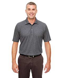 UltraClub Men's Heathered Pique Polo