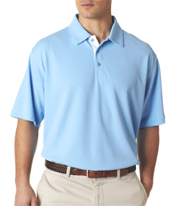 UltraClub Men's Platinum Performance Birdseye Polo with TempControl Technology