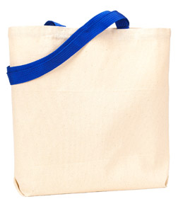 UltraClub Recycled Cotton Canvas Tote With Contrasting Handles