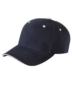 Yupoong Brushed Cotton Twill 6-Panel Mid-Profile Sandwich Cap