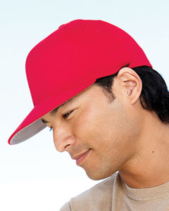 Yupoong Flexfit Wooly Twill Pro Baseball On-Field Shape Cap with Flat Bill